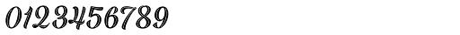 Black Script Inline Font OTHER CHARS