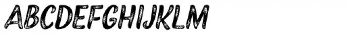 Black Script Printed Caps Font UPPERCASE