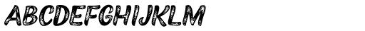 Black Script Printed Caps Font LOWERCASE