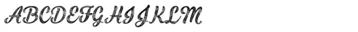 Black Script Printed Inline Font UPPERCASE