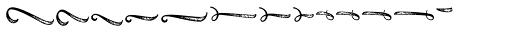 Black Script Printed Ornaments Font UPPERCASE