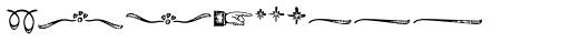 Black Script Printed Ornaments Font LOWERCASE