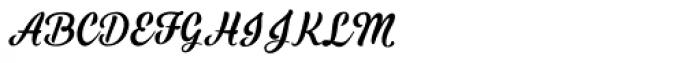 Black Script Regular Font UPPERCASE