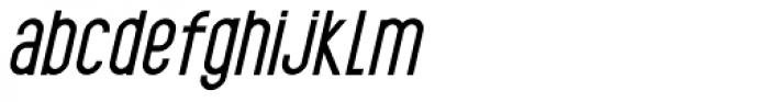 Black Spoon ExtraBold Oblique Font LOWERCASE