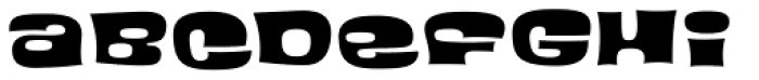 Blackcurrant Black Font LOWERCASE