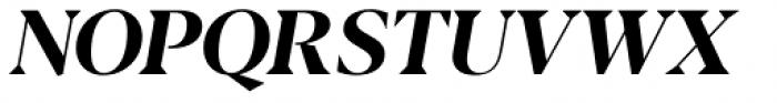 Blacker Display Bold Italic Font UPPERCASE