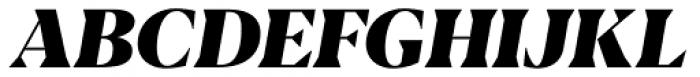 Blacker Display Heavy Italic Font UPPERCASE