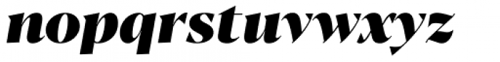 Blacker Display Heavy Italic Font LOWERCASE