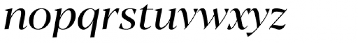 Blacker Display Italic Font LOWERCASE