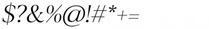 Blacker Display Light Italic Font OTHER CHARS