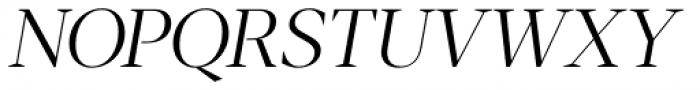 Blacker Display Light Italic Font UPPERCASE