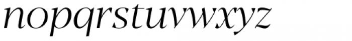 Blacker Display Light Italic Font LOWERCASE