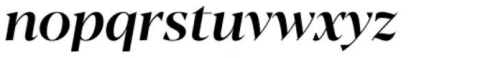 Blacker Display Medium Italic Font LOWERCASE