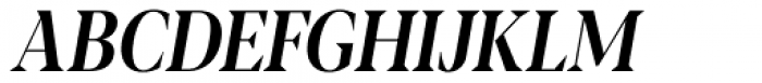 Blacker Pro Display Condensed Medium Italic Font UPPERCASE