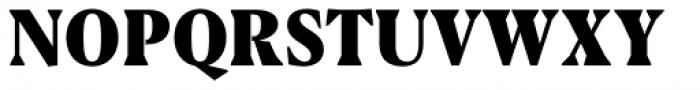 Blacker Pro Text Condensed Heavy Font UPPERCASE