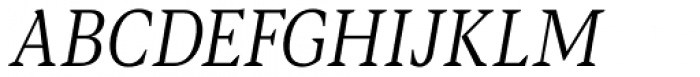 Blacker Pro Text Condensed Light Italic Font UPPERCASE