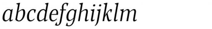 Blacker Pro Text Condensed Light Italic Font LOWERCASE