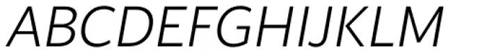 Blacker Sans Pro Light Italic Font UPPERCASE
