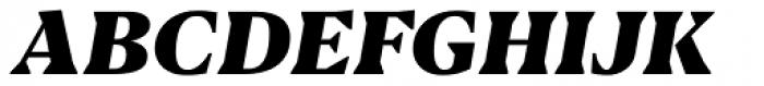 Blacker Text Heavy Italic Font UPPERCASE