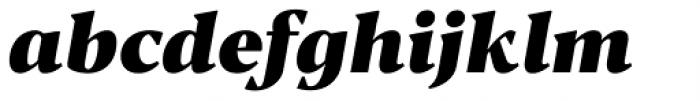 Blacker Text Heavy Italic Font LOWERCASE