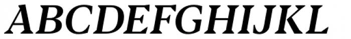 Blacker Text Medium Italic Font UPPERCASE