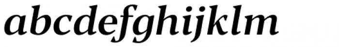 Blacker Text Medium Italic Font LOWERCASE