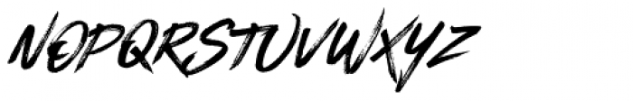 Blackhawk Italic Font UPPERCASE