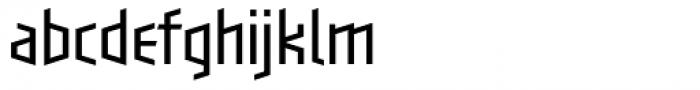 Blackletter Sans One Light Font LOWERCASE