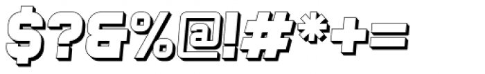 Bladi One Extruded 4F Bold Italic Font OTHER CHARS