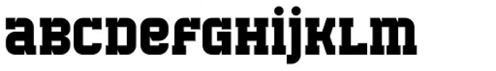 Bladi One Slab 4F Bold Font LOWERCASE