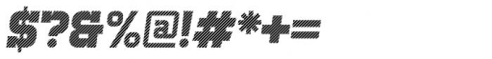 Bladi One Slab 4F Stripe Bold Italic Font OTHER CHARS