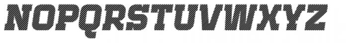 Bladi One Slab 4F Stripe Bold Italic Font UPPERCASE