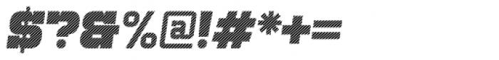 Bladi One Slab 4F Stripe Heavy Italic Font OTHER CHARS