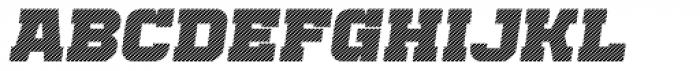 Bladi One Slab 4F Stripe Heavy Italic Font UPPERCASE
