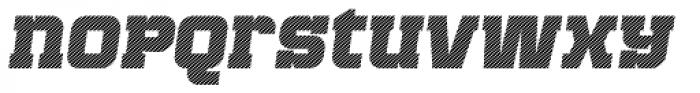 Bladi One Slab 4F Stripe Heavy Italic Font LOWERCASE