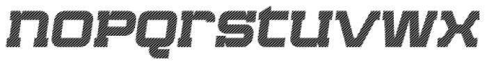 Bladi One Slab 4F Stripe Wide Bold Italic Font LOWERCASE