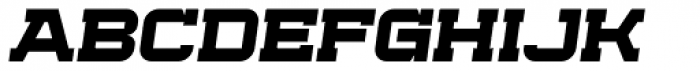 Bladi One Slab 4F Wide Bold Italic Font UPPERCASE