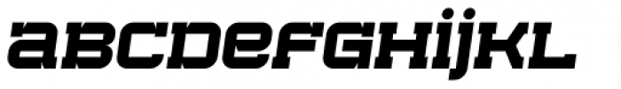 Bladi One Slab 4F Wide Bold Italic Font LOWERCASE