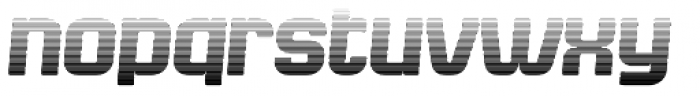 Bladi Two Gradient 4F Bold Italic Font LOWERCASE