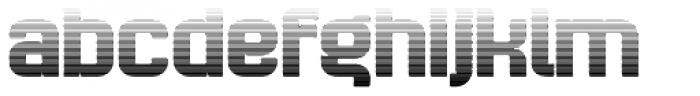 Bladi Two Gradient 4F Bold Font LOWERCASE