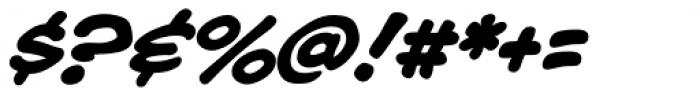 Blah Blah Upper Bold Italic Font OTHER CHARS