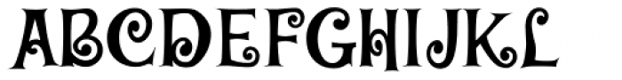 Blairesque Curly JF Font UPPERCASE