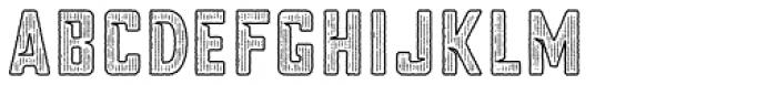 Blakstone Outline Hatch Three Font UPPERCASE