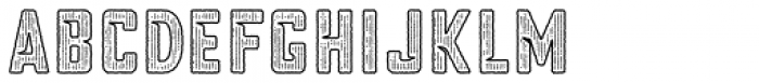 Blakstone Outline Hatch Three Font LOWERCASE