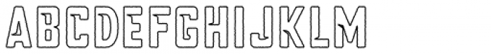 Blakstone Outline Font LOWERCASE