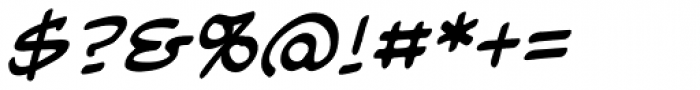 Blambot Classic BB Italic Font OTHER CHARS