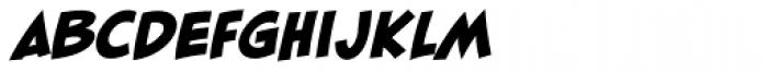 Blambot FXPro BB Heavy Italic Font UPPERCASE