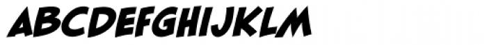 Blambot FXPro BB Heavy Italic Font LOWERCASE