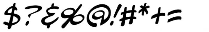 Blambot Pro Lite Italic Font OTHER CHARS