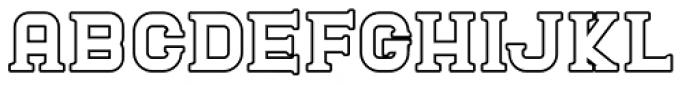 Blame Outline Serif Regular Font UPPERCASE